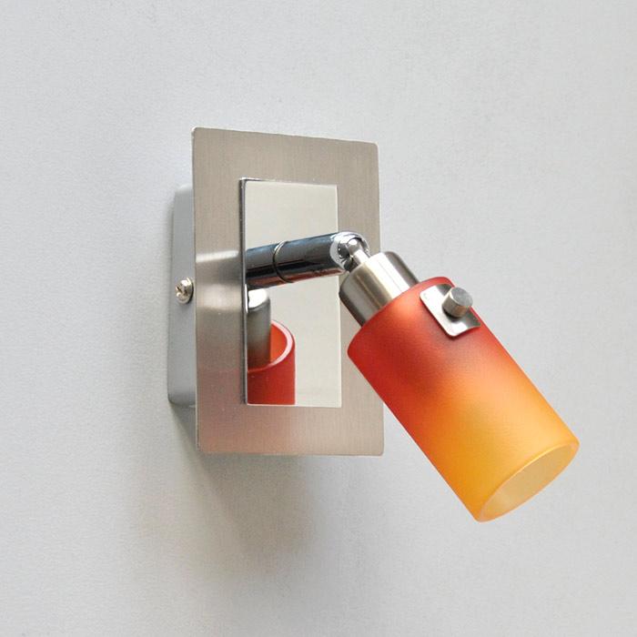 grazile wandleuchte wandlampe deckenleuchte spot rot orange mit schalter ebay. Black Bedroom Furniture Sets. Home Design Ideas