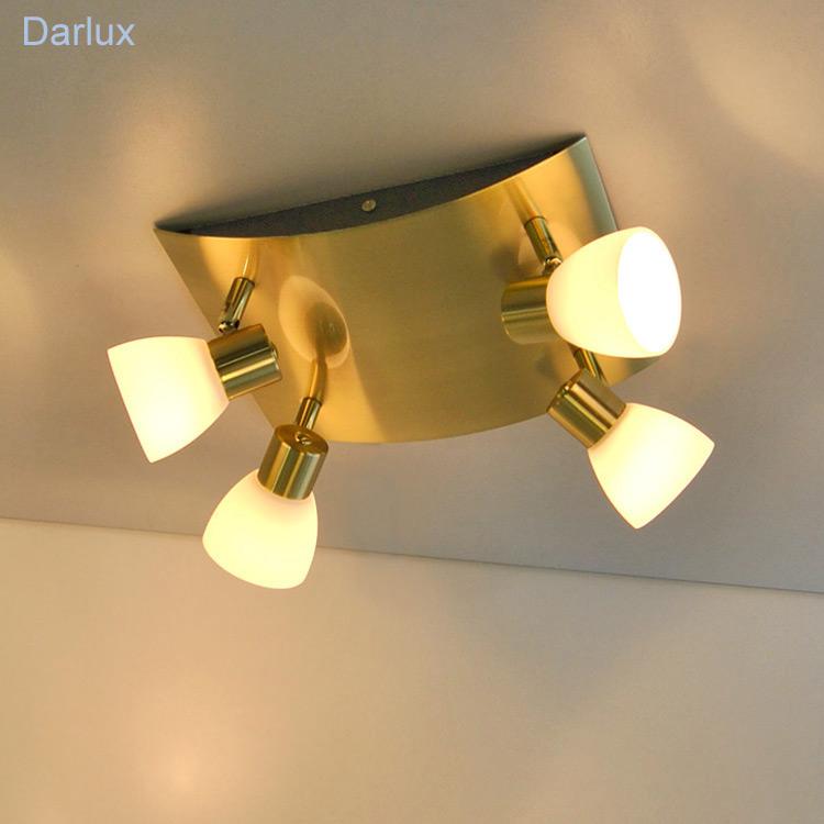 deckenleuchte design deckenlampe quadrat messing matt halogen deckenleuchten ebay. Black Bedroom Furniture Sets. Home Design Ideas