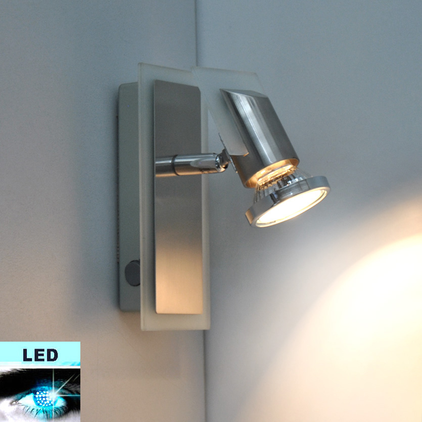Led Wall Lights With Switch : LED wall light 3W Ceiling Spot Spotlight lamp Reading Switch eBay