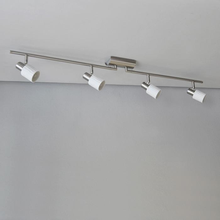 deckenlampe deckenleuchte edelstahl keramik optik dimmbar led m glich g9 ebay. Black Bedroom Furniture Sets. Home Design Ideas