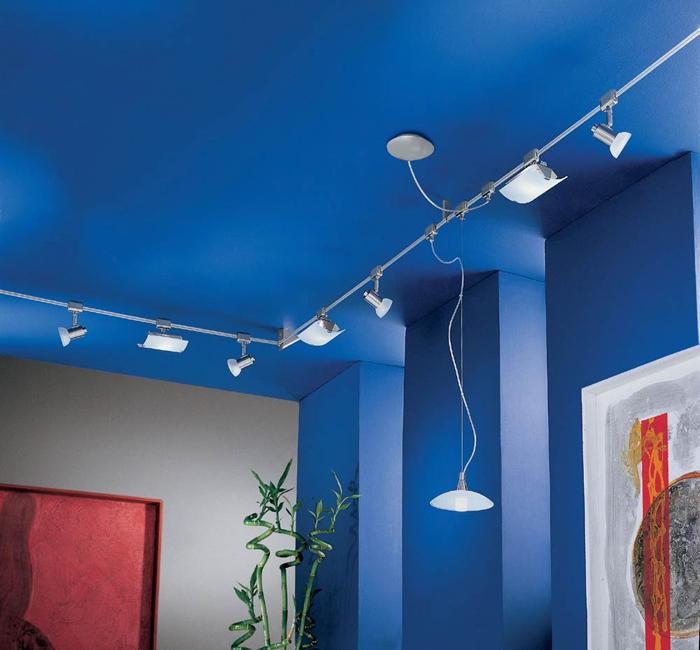 seilsystem deckenleuchte 7m hochvolt schienensystem. Black Bedroom Furniture Sets. Home Design Ideas