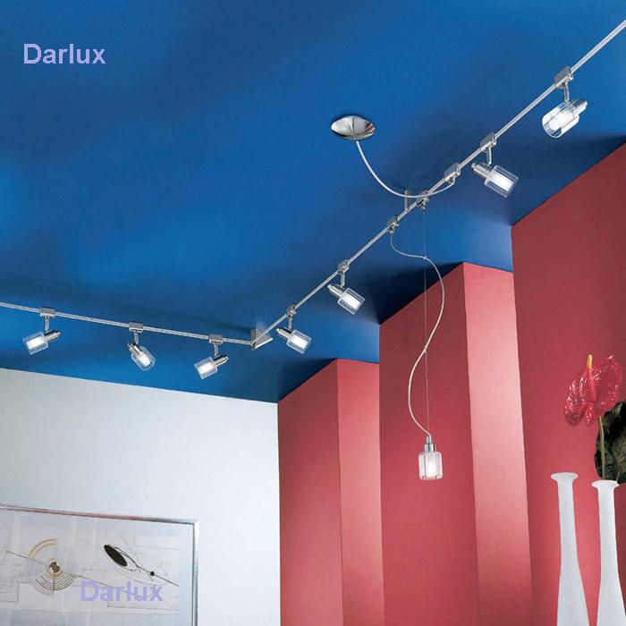 seilsystem eglo 85784 7m 8 flammig power line luxus deckenleuchte deckenlampe ebay. Black Bedroom Furniture Sets. Home Design Ideas