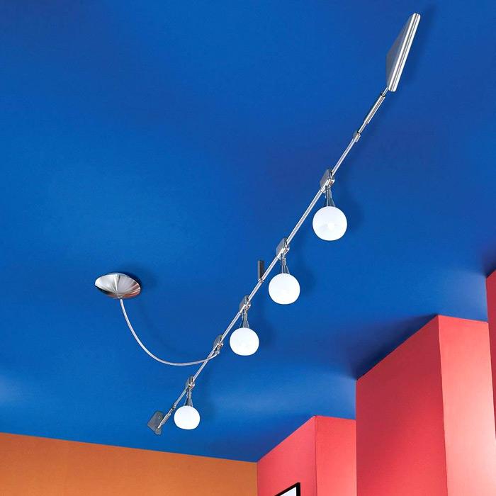 seilsystem dimmbar glas pendelleuchte modern. Black Bedroom Furniture Sets. Home Design Ideas