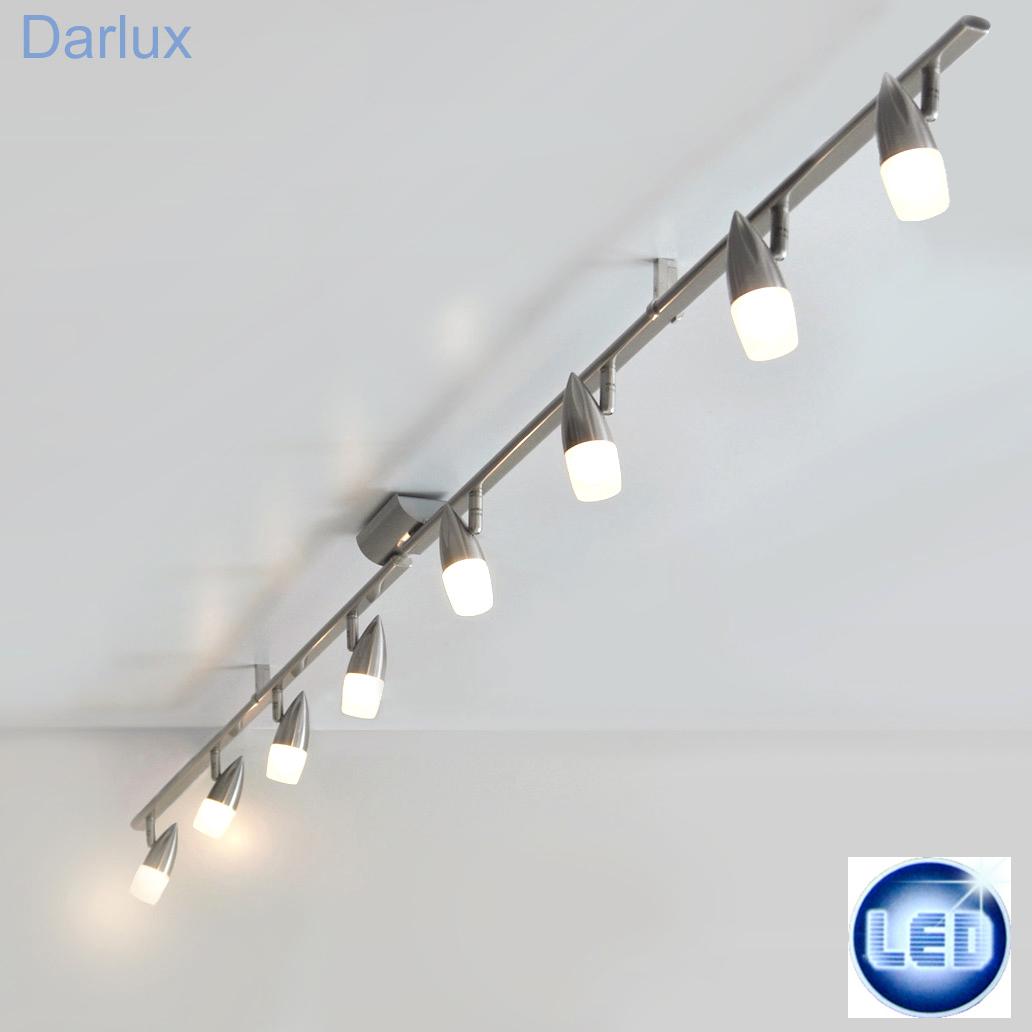 led deckenleuchte 8x5w deckenlampe 2 18m spot lichtschiene strahler edelstahl ebay. Black Bedroom Furniture Sets. Home Design Ideas