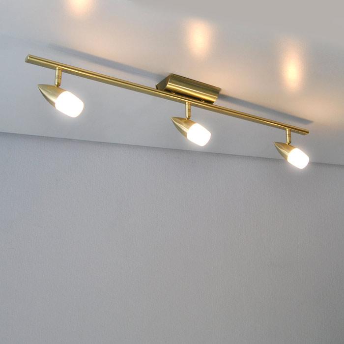 Deckenlampe 780mm messing matt lichtschiene luxus for Deckenlampe messing