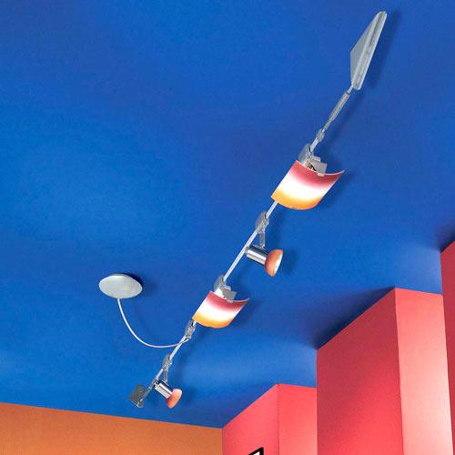 seilsystem 3 meter eglo 86227 powerline hochvolt 26391 3m seil deckenleuchte neu ebay. Black Bedroom Furniture Sets. Home Design Ideas