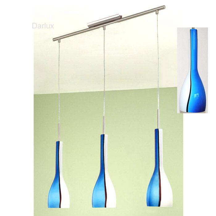pendelleuchte 70cm design h ngelampe h ngeleuchte blau. Black Bedroom Furniture Sets. Home Design Ideas