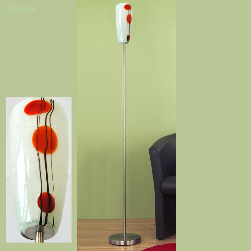 stehleuchte design stehlampe glas 24cm wei rot schwarz. Black Bedroom Furniture Sets. Home Design Ideas