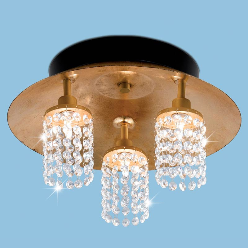 deckenlampe deckenlampe eglo leuchten glas kristall l ster gold optik neu ebay. Black Bedroom Furniture Sets. Home Design Ideas