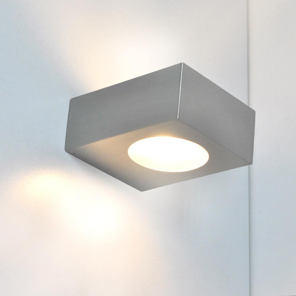 led badleuchte wandleuchte 55430369 eglo edelstahl mit 5w. Black Bedroom Furniture Sets. Home Design Ideas