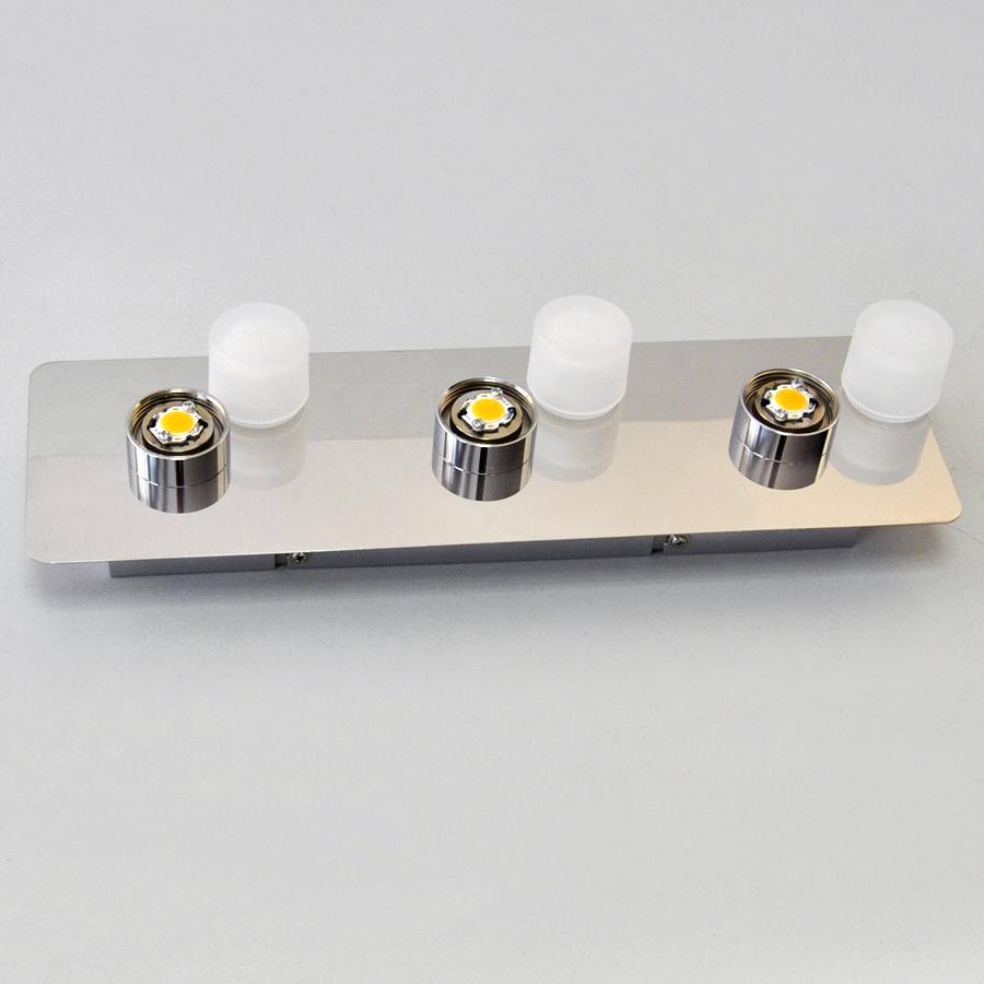 led deckenleuchte wandlampte 12w deckenlampe 36x11cm chrom wei schalter neu ebay. Black Bedroom Furniture Sets. Home Design Ideas
