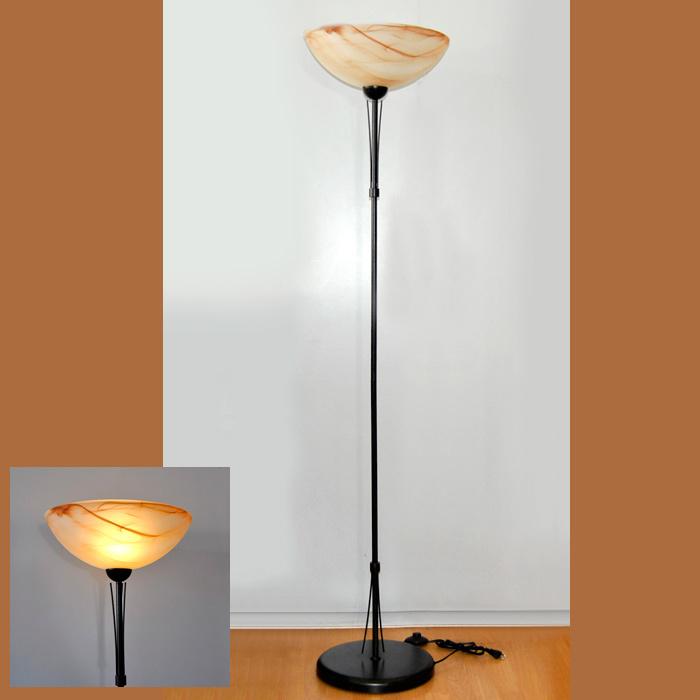 stehlampe 1 76m rostfarbig antik 48691 honsel leuchten stehleuchte deckenfluter ebay. Black Bedroom Furniture Sets. Home Design Ideas