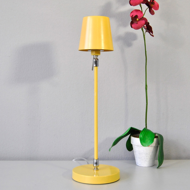 lampe de table 440mm jaune pastel lampe de chevet lampes de chevet ebay. Black Bedroom Furniture Sets. Home Design Ideas