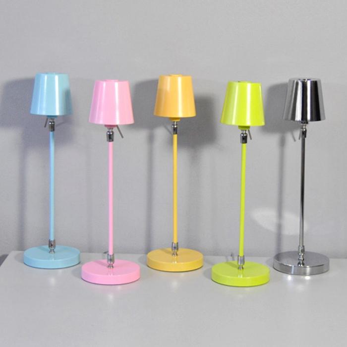 Lampe de table 440mm jaune pastel lampe de chevet lampes for Lampe de table jaune