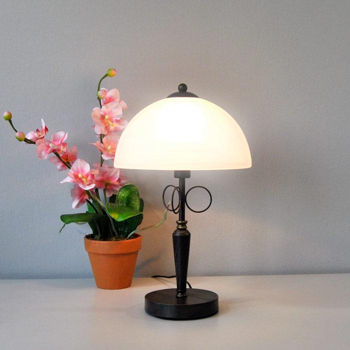 luxe lampe de table 43 cm rostfarbig gold antik lampes de table lampe de chevet ebay. Black Bedroom Furniture Sets. Home Design Ideas