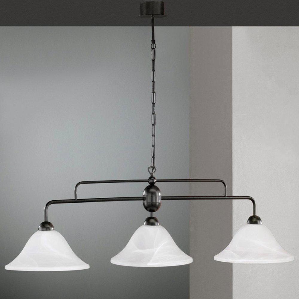 Pendelleuchte h ngelampe braun schwarz h ngeleuchte for Lampen landhaus