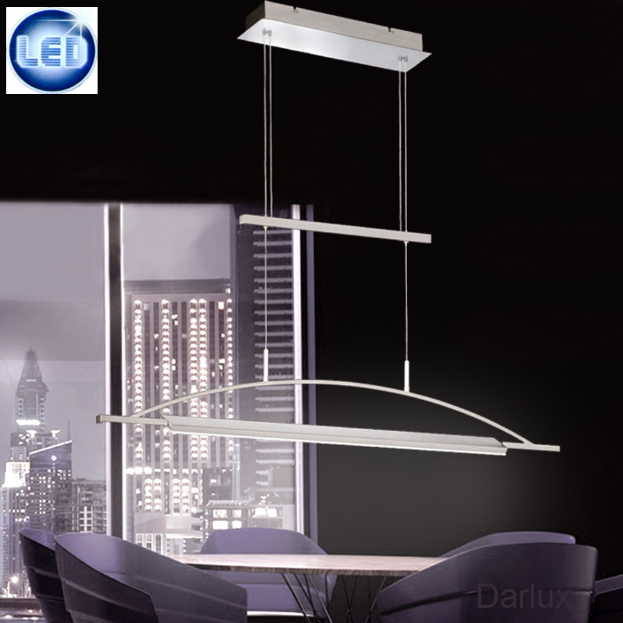 led pendelleuchte h henverstellbar 30w h ngelampe zug h ngeleuchte dimmbar neu ebay. Black Bedroom Furniture Sets. Home Design Ideas