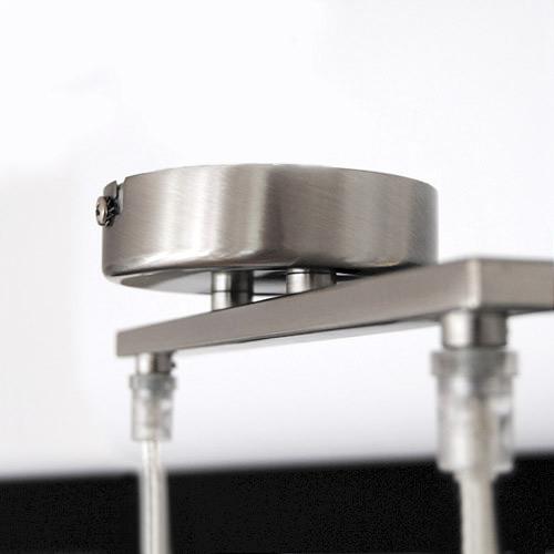 pendelleuchte h ngeleuchte 52cm edelstahl 7w sparlampen. Black Bedroom Furniture Sets. Home Design Ideas