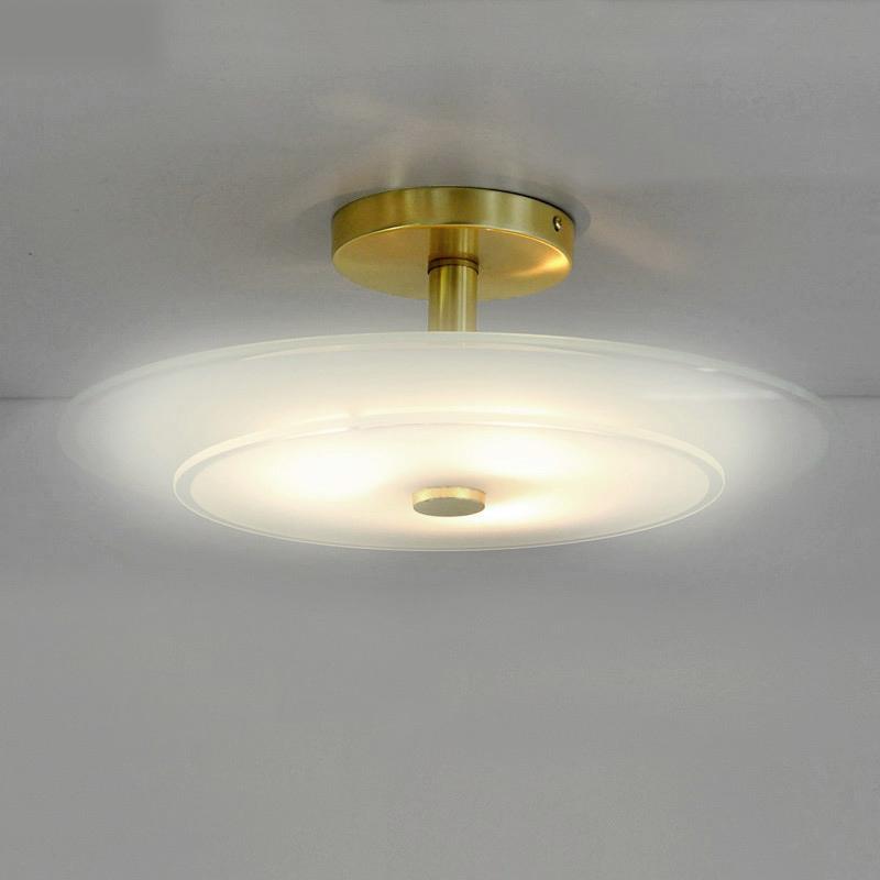 deckenlampe design deckenleuchte glasplatte wei messing. Black Bedroom Furniture Sets. Home Design Ideas