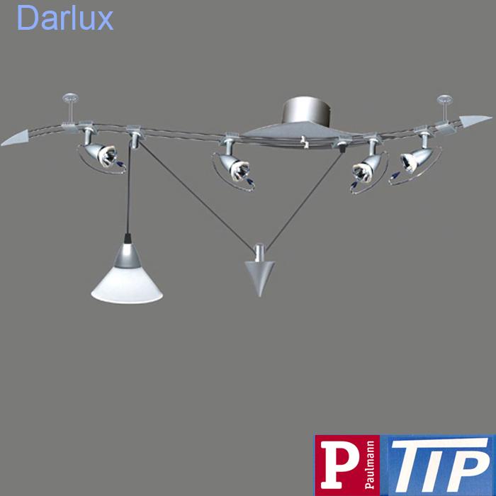 schienensystem deckenleuchte strahler zugpendel deckenlampe led m glich silber ebay. Black Bedroom Furniture Sets. Home Design Ideas