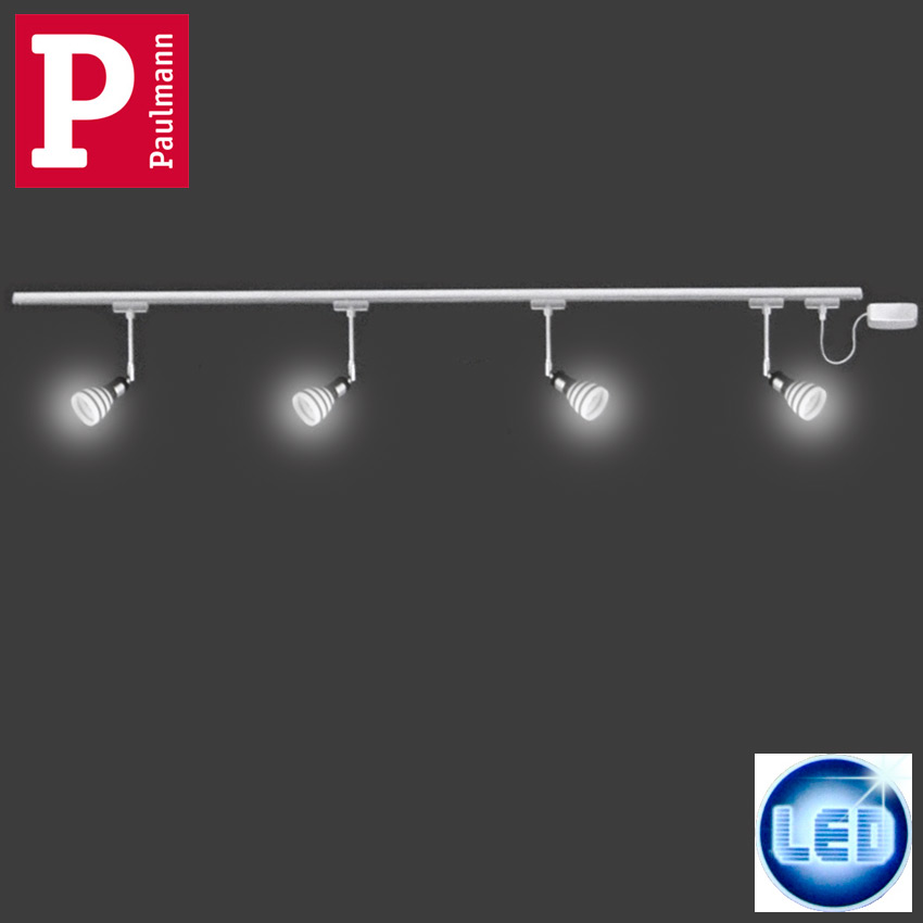 led schienensystem deckenleuchte paulmann urail deckenlampe sparlampen 2 2m neu ebay. Black Bedroom Furniture Sets. Home Design Ideas