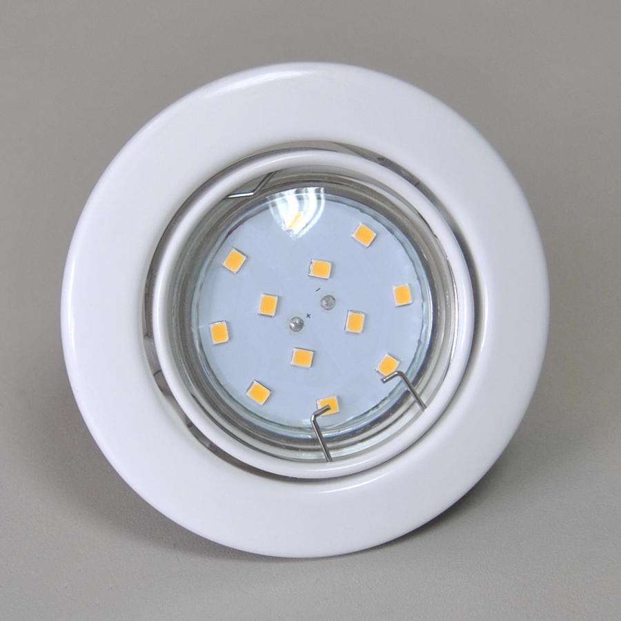 LED Einbauleuchte Ø85mm 55294141 weiß mit 3W GU10 LED