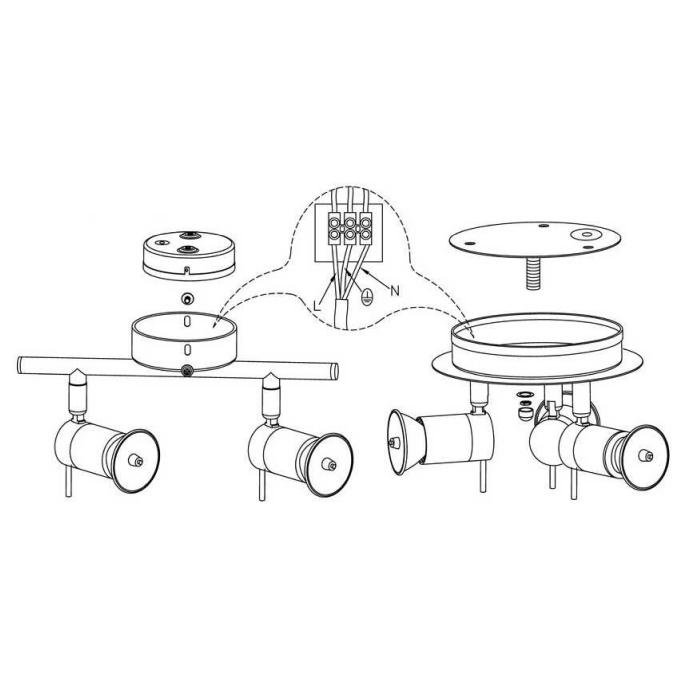 led badleuchte badezimmer 3 flg chrom ip44 badlampe briloner led deckenlampe. Black Bedroom Furniture Sets. Home Design Ideas