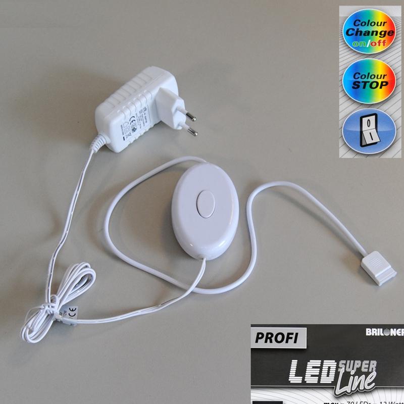 LED Stecker-Trafo RGB Steckdosentrafo PROFI Briloner 2333-000 bunt