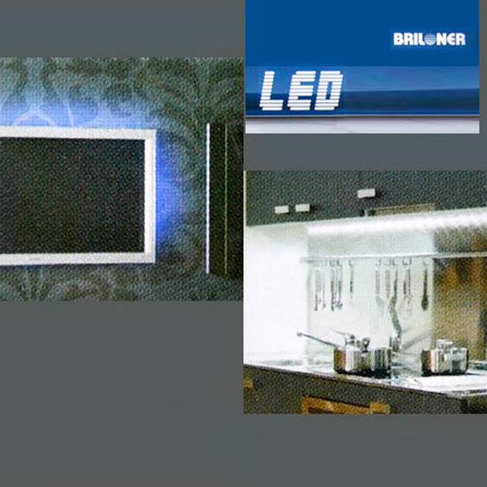 led lichtleiste unterbauleuchte 56cm profil briloner prisma leuchten strips neu. Black Bedroom Furniture Sets. Home Design Ideas