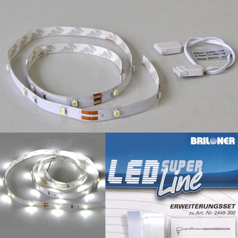 LED Lichtband Briloner Super Line 2439-180 2415-180 Erweiterungsset