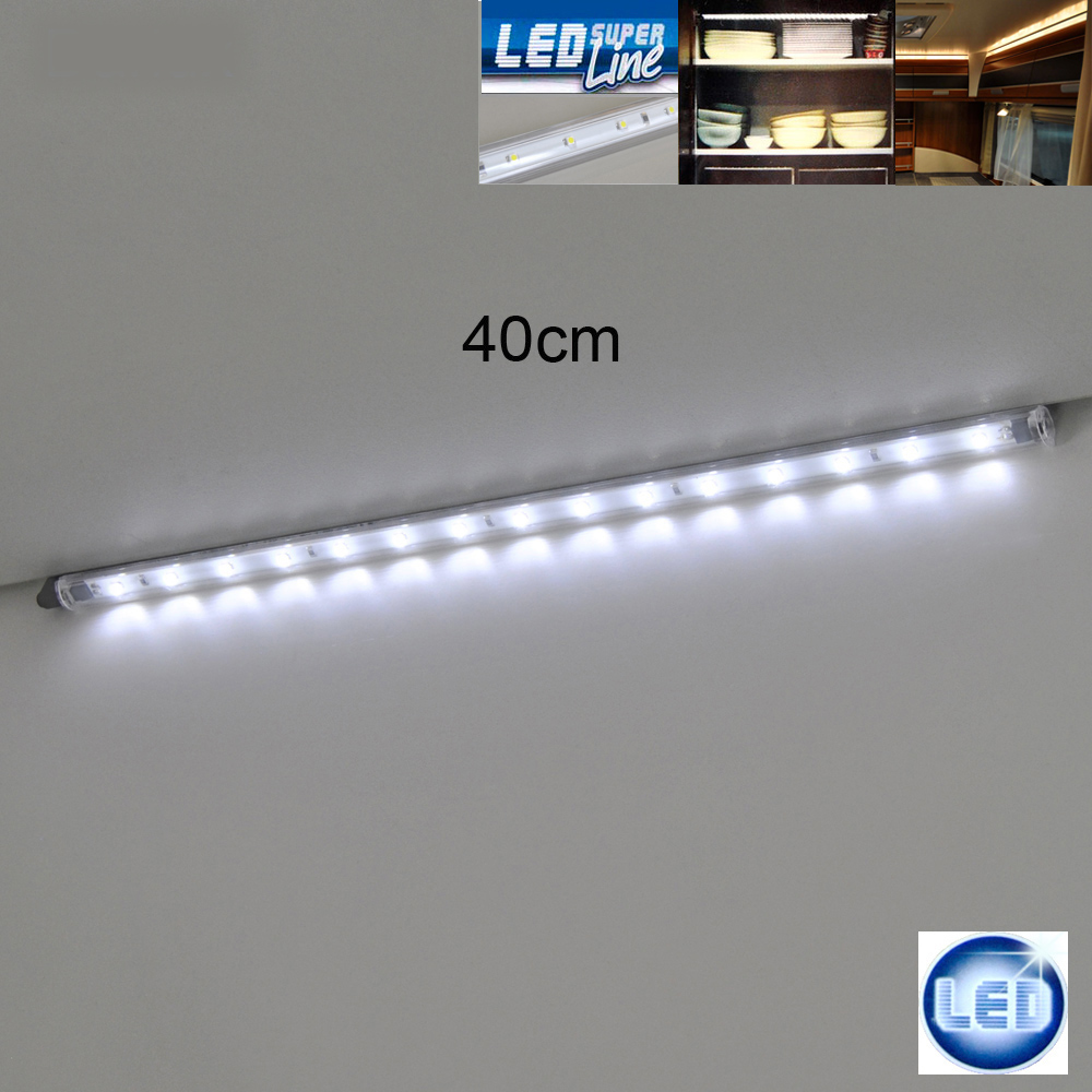 led auto beleuchtung 40cm leiste leuchte camping caravan wohnwagen lampe 12v ebay. Black Bedroom Furniture Sets. Home Design Ideas