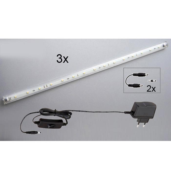 3x40cm LED Lichtleisten 45685909 Briloner