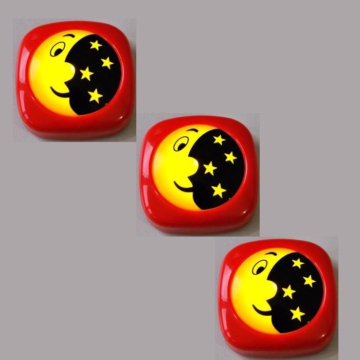 3-Set LED Nachtlicht 2482/012 Briloner Kinderleuchte Mond und Sterne