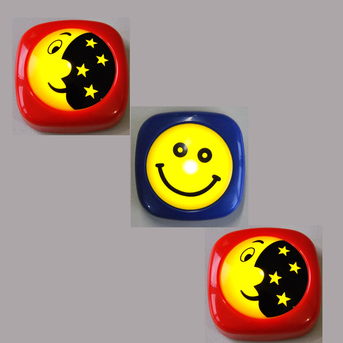 3-Set LED Nachtlicht 2482/012 + 2481/010 Briloner 2xMond&Sterne+Smiley
