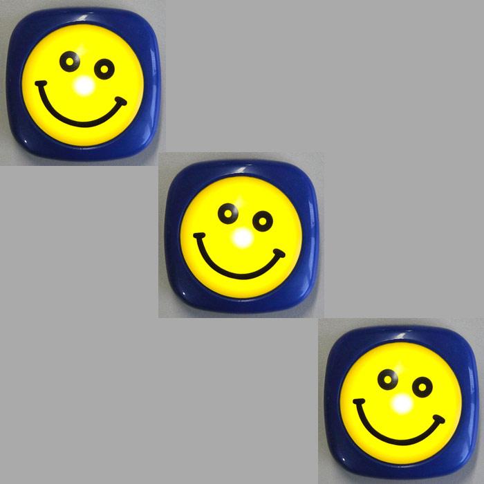 3x Set LED Nachtlicht 2481/010 Briloner Kinderleuchte Smiley