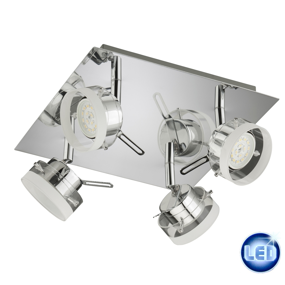 LED Deckenleuchte Briloner 52963932 Deckenlampe 4x5W chrom 4-flammig