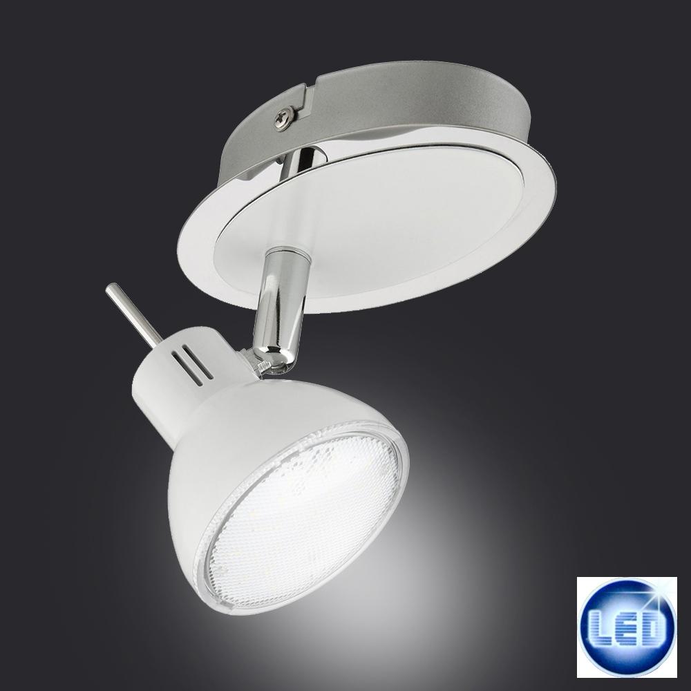 briloner leuchten 2834 016 led spot lampe 4 watt strahler wei chrom. Black Bedroom Furniture Sets. Home Design Ideas