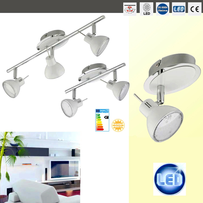 led deckenleuchte spot leiste briloner 2834 036 strahler decken lampe ip20 ebay. Black Bedroom Furniture Sets. Home Design Ideas