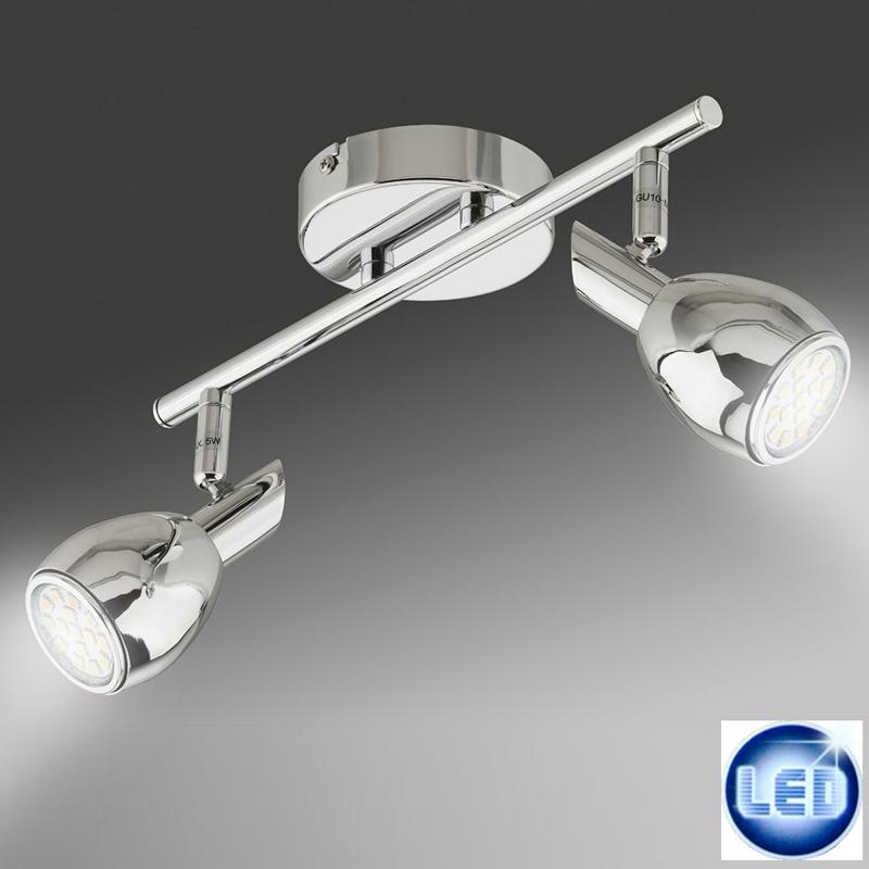 LED 10W Deckenleuchte Wandleuchte Briloner 2-flammig 2865-028 Chrom