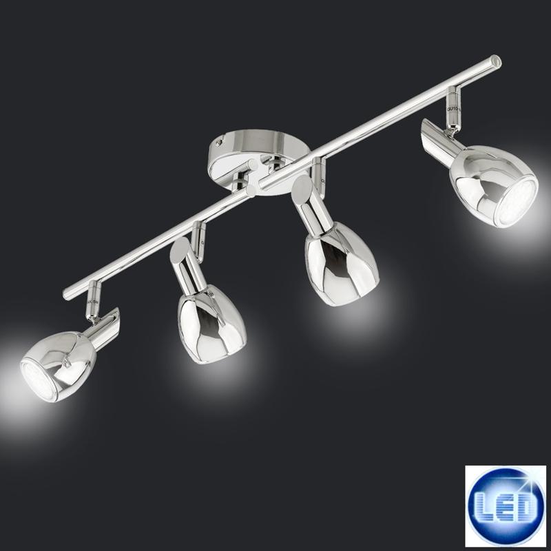 LED Deckenleuchte 4-flammig Briloner 2865-048 Chrom  20 Watt
