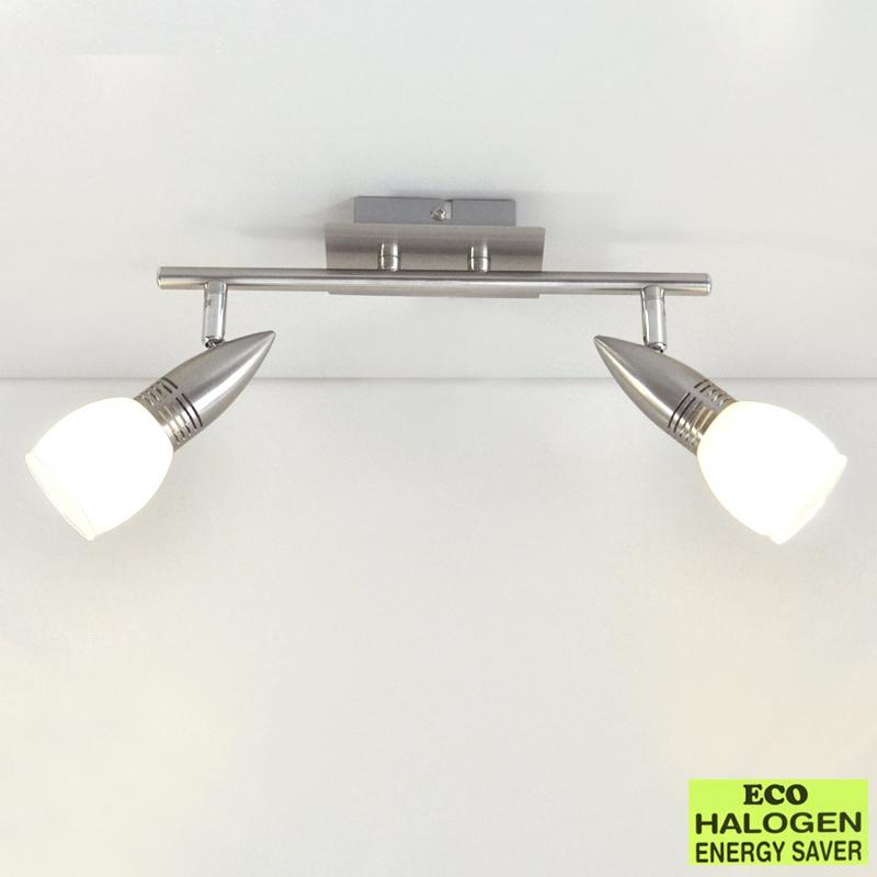 Eco deckenleuchte spot deckenlampe 30 5cm spot leiste for Halogen deckenlampe