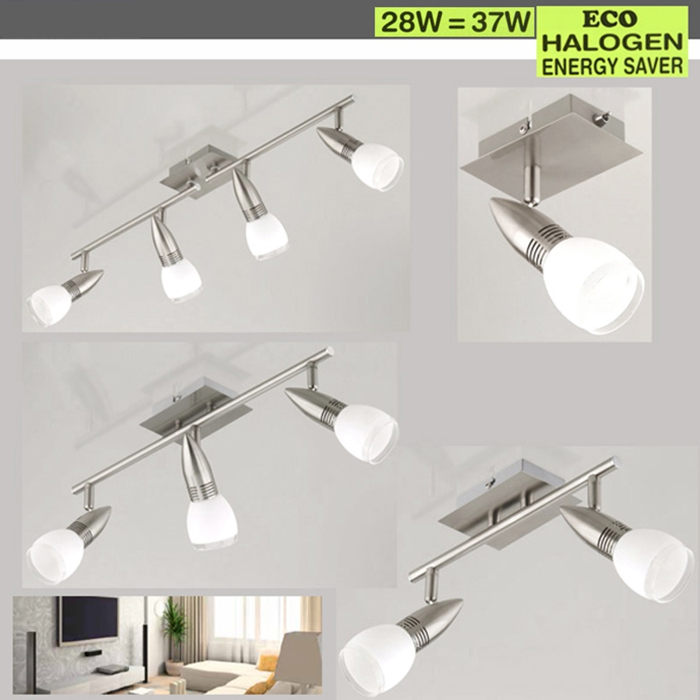 Eco deckenleuchte spot deckenlampe 71cm spot leiste for Halogen deckenlampe