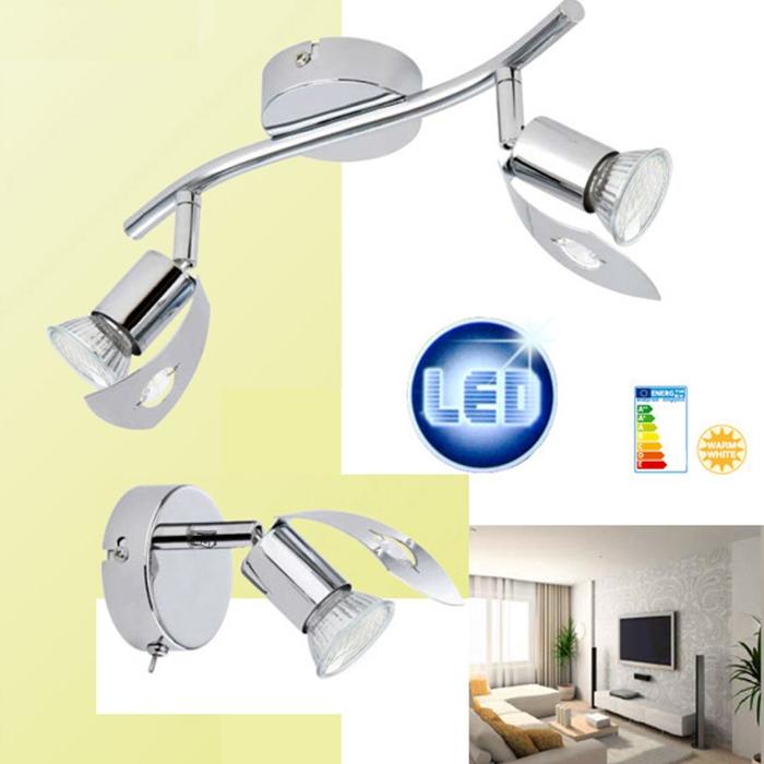 deckenleuchte led 6 w deckenlampe spot strahler wandlampe spiegelleuchte 31cm ebay. Black Bedroom Furniture Sets. Home Design Ideas