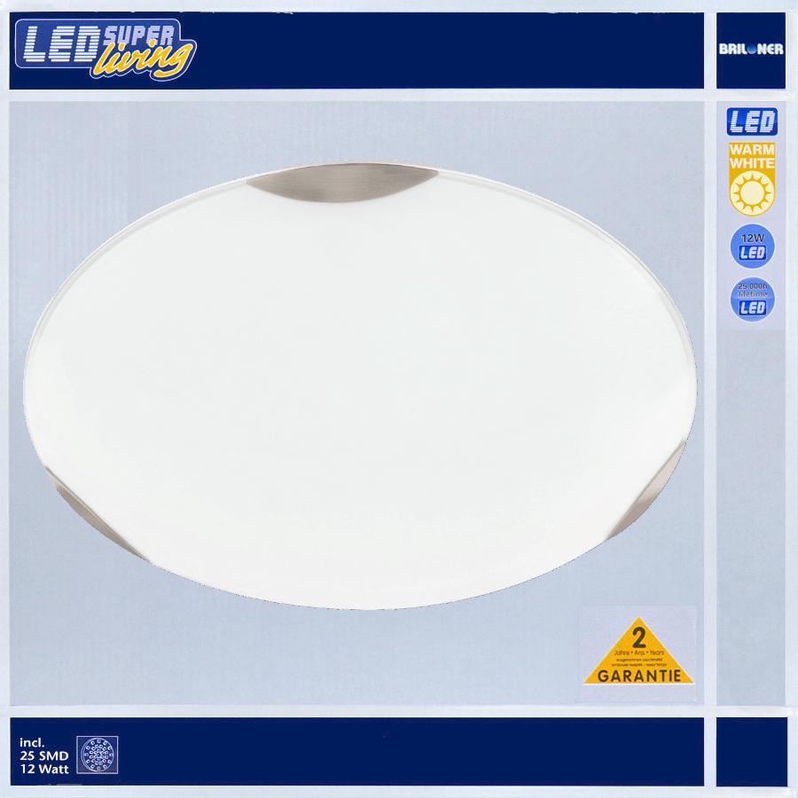 led deckenleuchte 12w glas ufo wei briloner deckenlampe neu g ste wc ip20 ebay. Black Bedroom Furniture Sets. Home Design Ideas