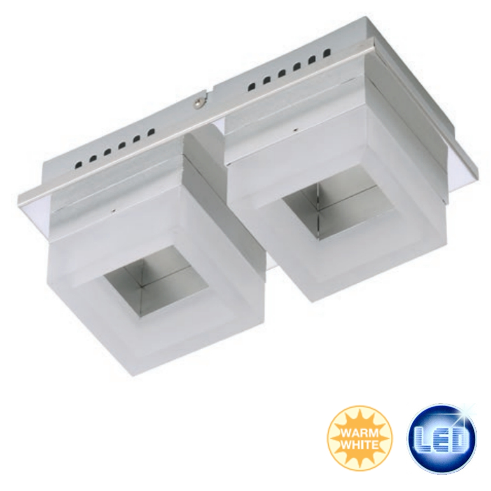 LED Ceiling Light Briloner Ceiling Light with 2x6w Chrome  -> Led Deckenleuchte Zoe