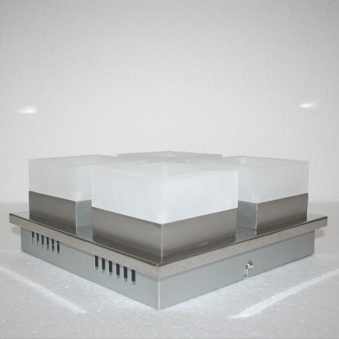 Plafonnier led chrome 4x6w plafonnier ip20 lampe pour for Lampe plafond salle de bain