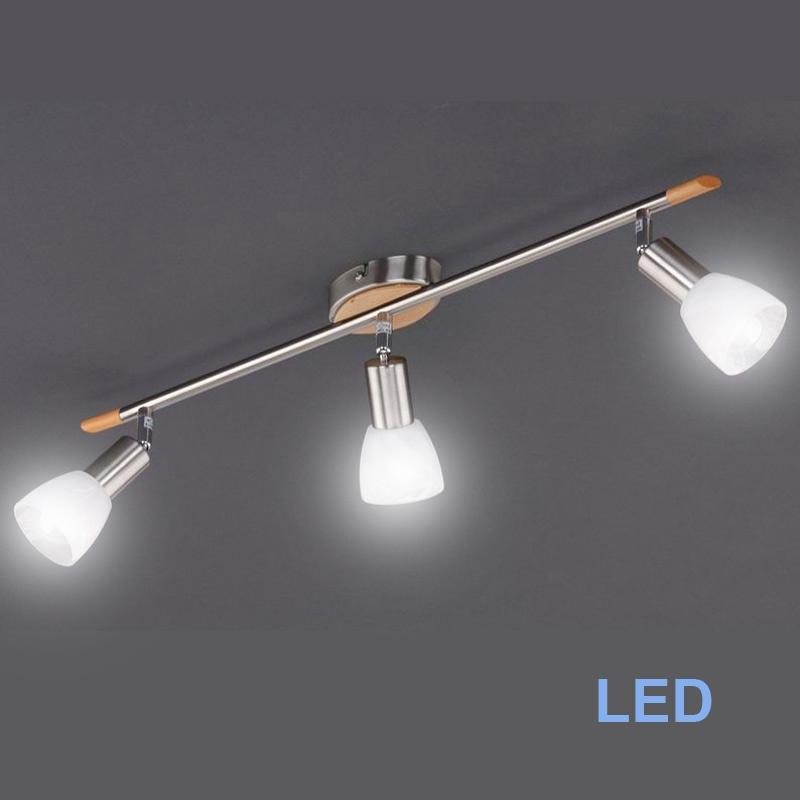 Led deckenleuchte 3x4w power led deckenlampe spot leiste for Led spot deckenleuchte