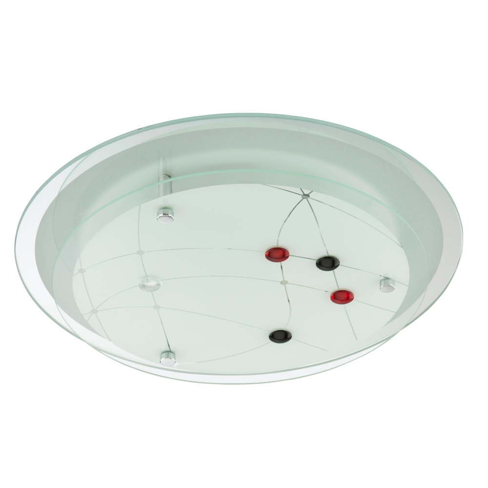 Deckenleuchte 4130-026 Briloner Deckenlampe 2-stufig Glas
