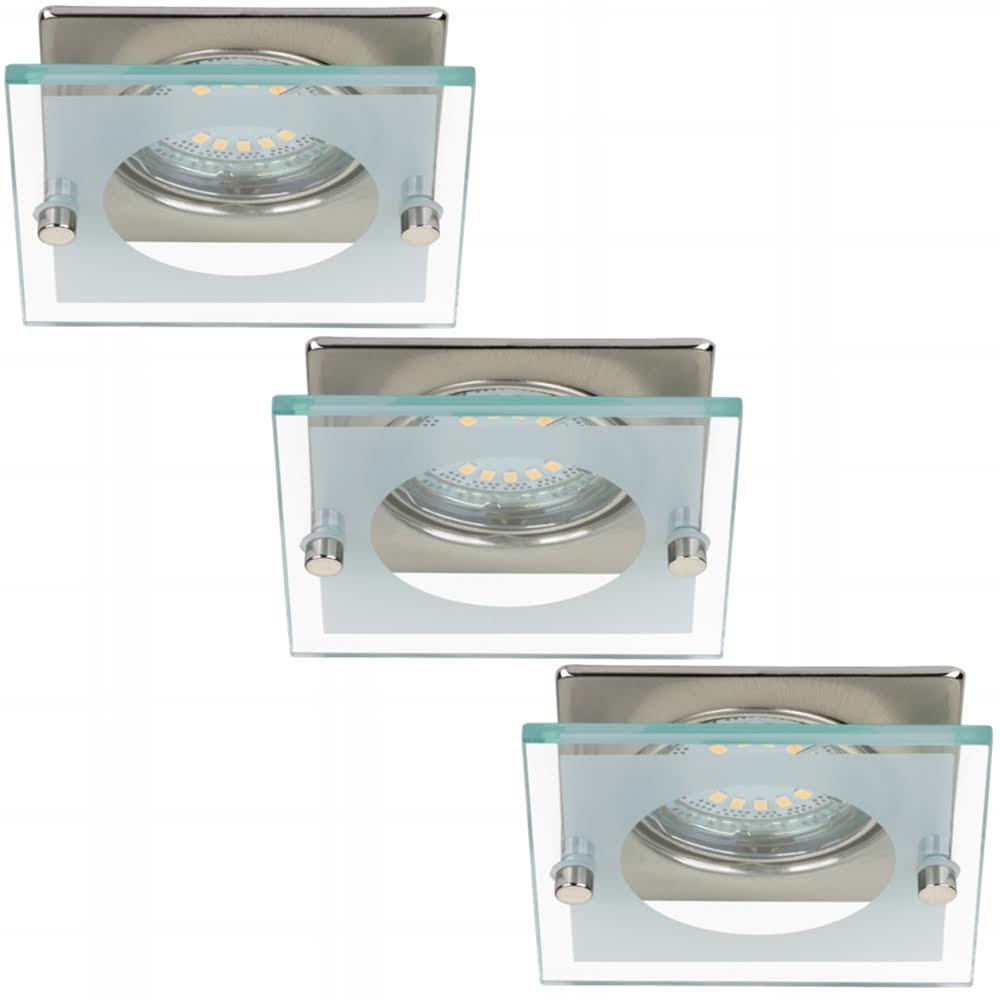 3x LED Einbauleuchte 7202-032 Briloner mit 3x 4W GU10 LED