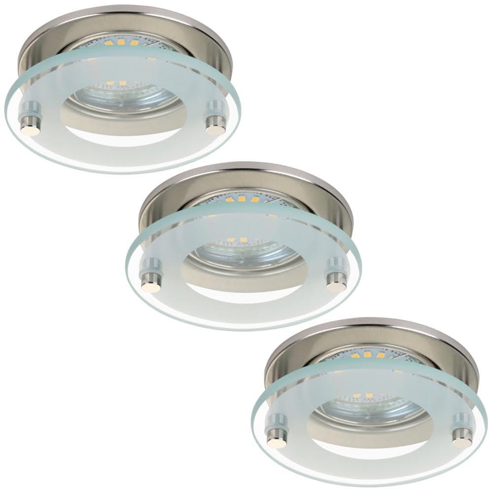 3x LED Einbauleuchte 7203-032 Briloner mit 3x 4W GU10 LED